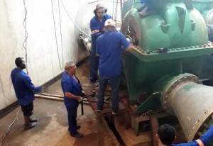 Serviço de substituição de equipamento na ETA de Gramame