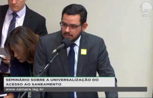 Na Câmara, Marcus Vinícius diz que Aebe é a favor de novo marco legal do saneamento