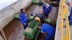 Cagepa realiza força-tarefa para restabelecer abastecimento em Bayeux, Várzea Nova e Alto do Mateus