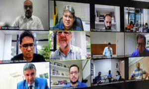 Governador e presidente da Cagepa participam de lançamento de Câmara de Saneamento do Consórcio Nordeste